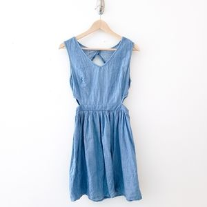 one clothing blue cotton denim dress size small